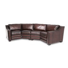 Henley Leather LAF & RAF Sofa Set in Ember Espresso