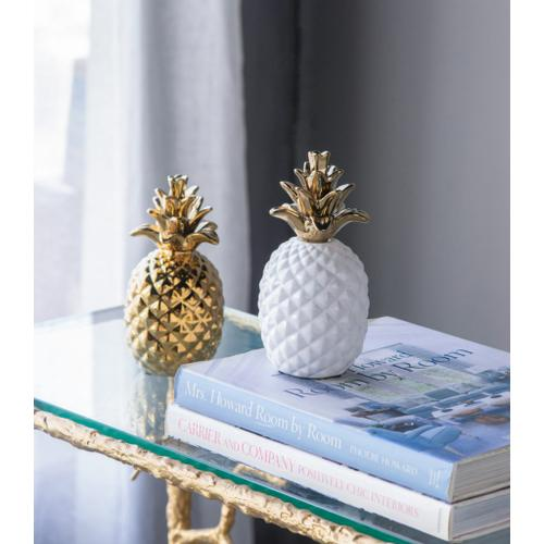 A & B Home - Ceramic Pineapple Accent