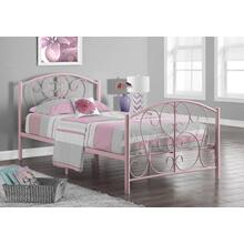 See Details - BED - TWIN SIZE / PINK METAL FRAME ONLY