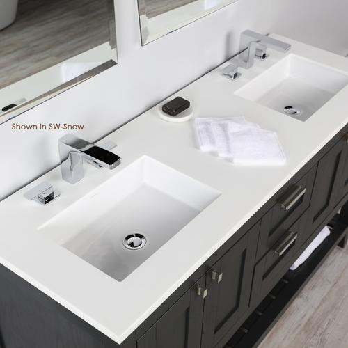 Countertop for vanity STL-W-60 & STL-F-60, with 2 cut-outs for Bathroom Sink 5452UN.