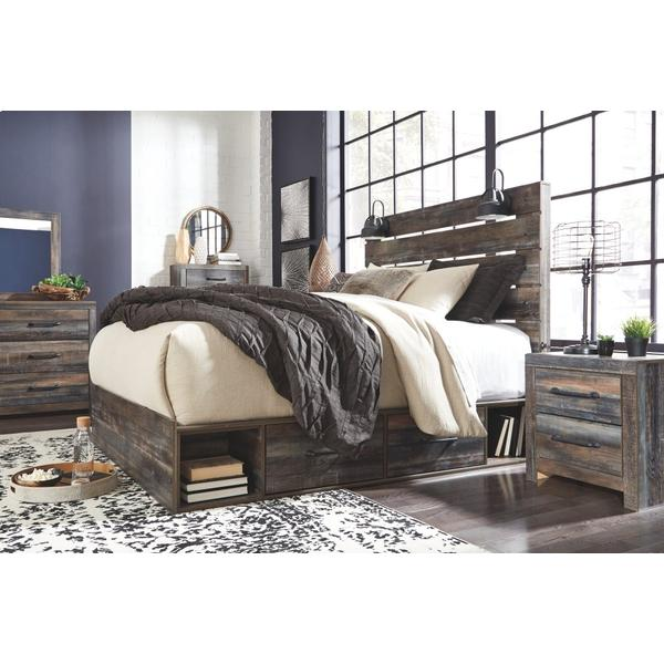Drystan Queen Panel Bed With 4 Storage Drawers