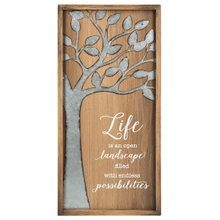 Framed Plaque - Vertical - Life is an open landscape filled with endless possibilities