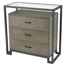Mezzanine 3-drawer Chest In Pewter