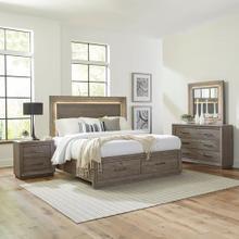 See Details - Queen Storage Bed, Dresser & Mirror, Night Stand