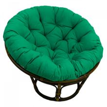 Bali 42-inch Indoor Fabric Rattan Papasan Chair - Walnut/Emerald
