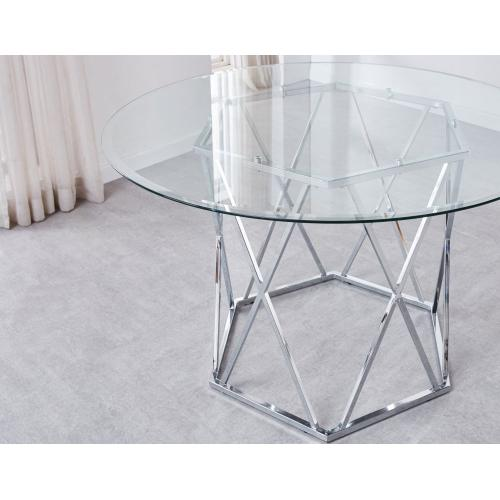 Escondido 48 inch Round Glass Top Table