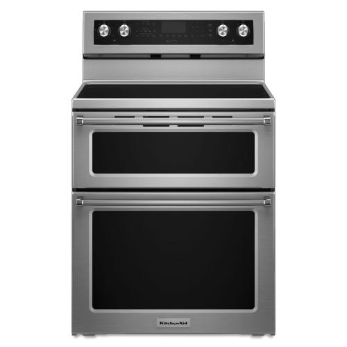 Gallery - 30-Inch 5 Burner Electric Double Oven Convection Range - Stainless Steel