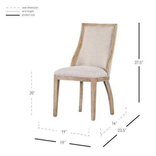 Taylor Fabric Chair, Light Sand