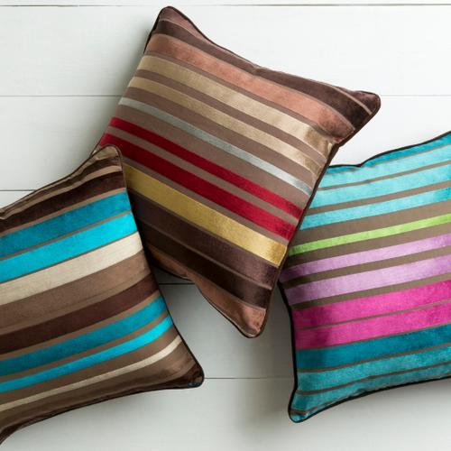 "Surya - Velvet Stripe JS-019 22""H x 22""W"