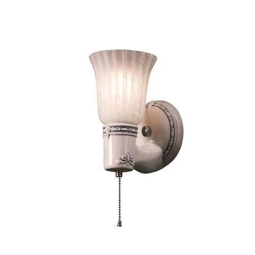 Vintage Round w/ Uplight Glass Shade