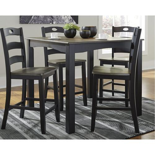 Froshburg Counter Height Dining Table and 4 Stools