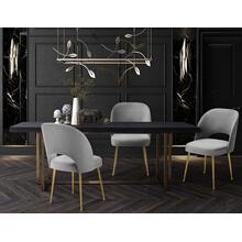View Product - Swell Light Grey Velvet Chair