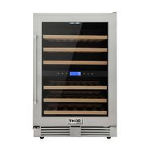 See Details - 24 Inch Dual Zone Indoor/outdoor Wine Cooler, 46 Wine Bottle Capacity
