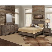 Gray Sanded Queen Platform, Gray Sanded Triple Dresser, Gray Sanded Mirror, Gray Sanded Night Stand