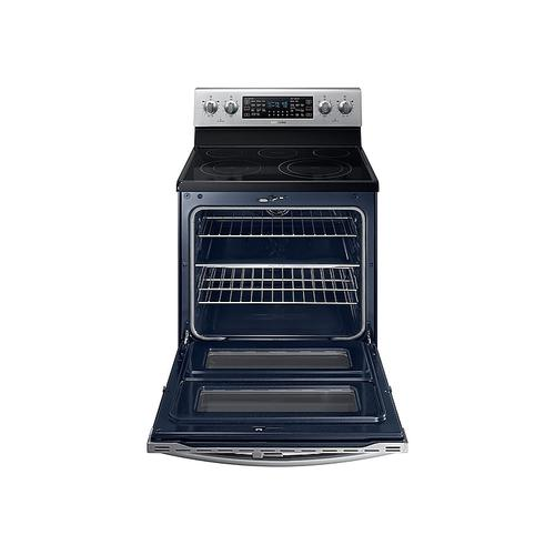 5.9 cu ft. Smart Freestanding Electric Range with Flex Duo™ & Dual Door in Stainless Steel