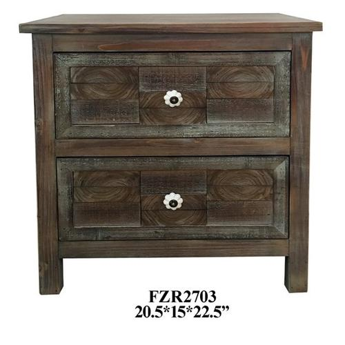 Product Image - SIDE TABLE W/ 2 DRAWER, 20.5X15X22.5, 1PK 5.71'