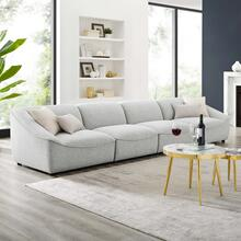 Comprise 4-Piece Sofa in Light Gray