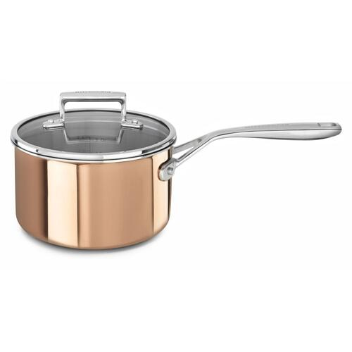 Tri-Ply Copper 3.0-Quart Saucepan with Lid - Satin Copper
