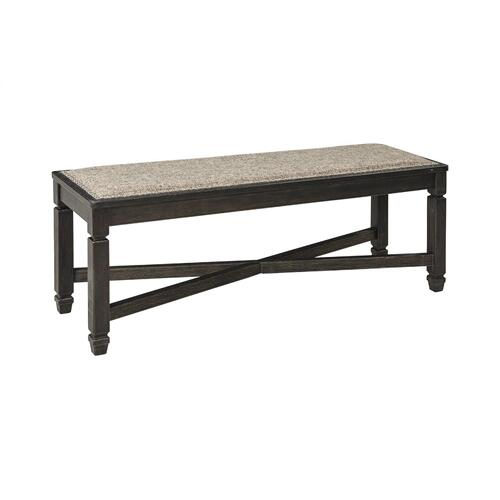 Tyler Creek Upholstered Bench Black/Gray