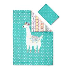 Kids Comforter and Pillowcase Festive Llama - 39''