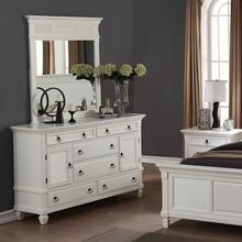 Regitina 016 White Bedroom Dresser w/ Mirror