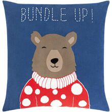 "Bundle Up Bear BUB-001 22""H x 22""W"