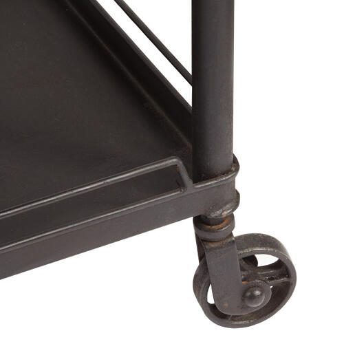 Mirrored Tray Top Metal Bar Cart