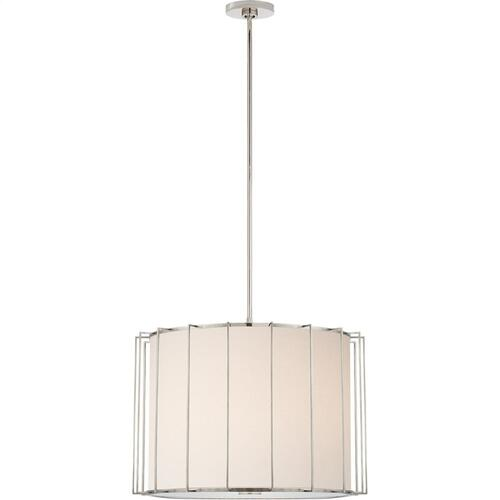 Visual Comfort BBL5014PN-L Barbara Barry Carousel 2 Light 24 inch Polished Nickel Lantern Pendant Ceiling Light, Large Drum
