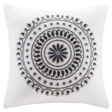 Fleur Embroidered Square Pillow
