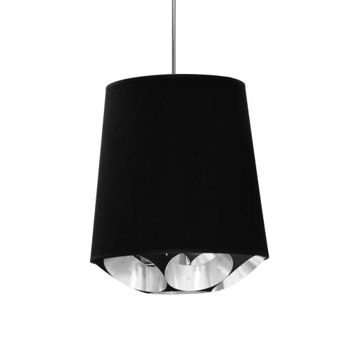Product Image - 1lt Hadleigh Pendant Blk/sv, Small Polished Chrome