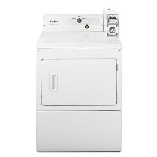 "Whirlpool® 27"" Large Capacity Commercial Electric Dryer - White"
