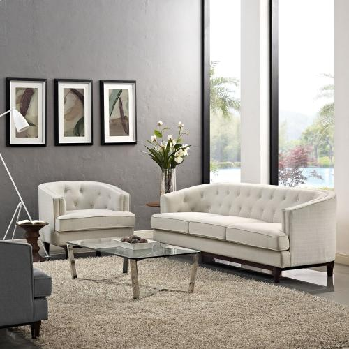 Coast Living Room Set Set of 2 in Beige