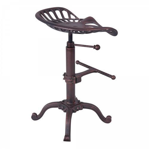 Armen Living Jax Industria Adjustable Barstool