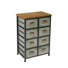 Grant 9-drawer Accent Cabinet, Aged Metal Ac410-08