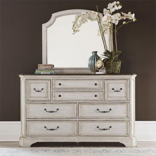 King California Sleigh Bed, Dresser & Mirror, Chest