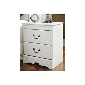Anarasia Two Drawer Night Stand White