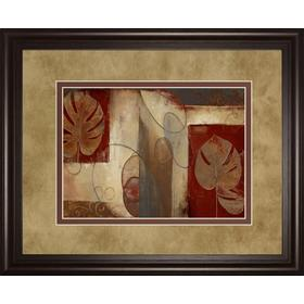 """Inspiration In Crimson"" By Patricia Pinto Framed Print Wall Art"