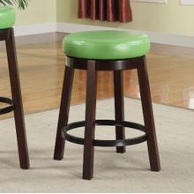 Set of Two Fun Color Wooden Swivel Barstools Counter Height Lime Green