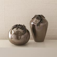 Cascading Reef Vase-Reactive Bronze-Tall