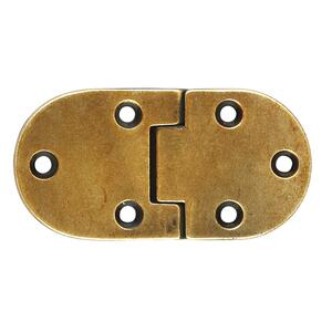 "Furniture Hardware Hinge 2.91"" x 1.50"" O.A. in Brown Windsor Antique Product Image"
