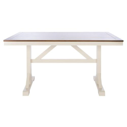 Akash Rectangle Dining Table - White / Natural