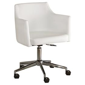 Baraga Home Office Swivel Desk Chair White