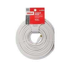 RCA 100 Ft Digital RG6 Coaxial Cable - White