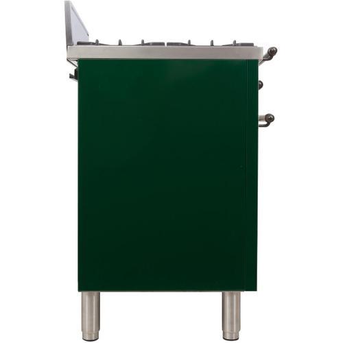 Ilve - Nostalgie 30 Inch Gas Liquid Propane Freestanding Range in Emerald Green with Bronze Trim