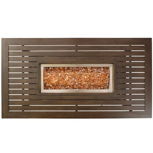 "La Lima 61"" x 33"" Rectangular Gas Fire Pit Table w/ burner"