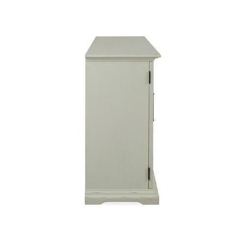 3 Door Console - White