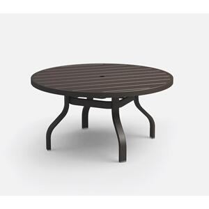"42"" Round Chat Table (with Hole) Ht: 19"" 37XX Universal Aluminum Base (Model # Includes Both Top & Base)"