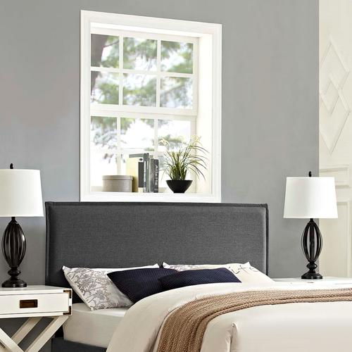 Modway - Camille King Upholstered Fabric Headboard in Gray