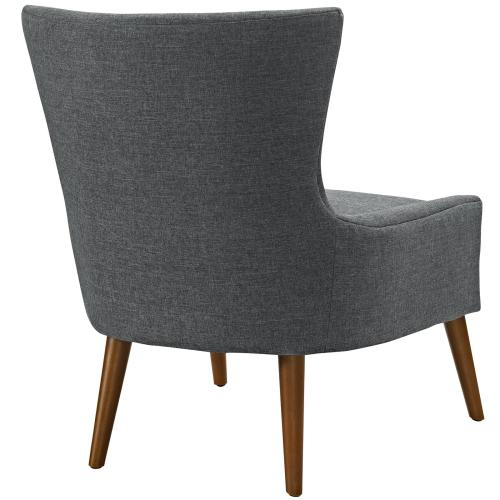 Keen Upholstered Fabric Armchair in Gray