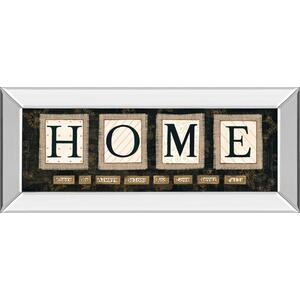 """Classy Art - """"Home"""" By Anne Lapoint Mirrored Framed Print Wall Art"""
